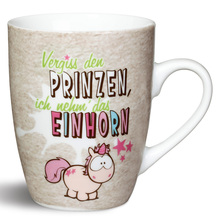 NICI Porzellan-Tasse 'Vergiss den Prinzen, Ich Nehm´Das Einhorn'