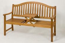 Hockerbank Ashfield 150x64x104 cm  Akazienholz