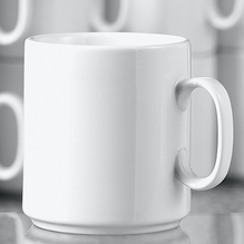 Esmeyer Kaffeebecher Diane 402-316 0,28l Porzellan weiß 6 St./Pack.