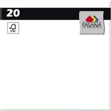 FASANA Serviette 209436 33x33cm 3lagig weiß 20 St./Pack.