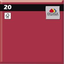 FASANA Serviette 209427 33x33cm 3lagig bordeaux 20 St./Pack.