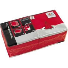 FASANA Serviette 217674 24x24cm 3lagig rot 250 St./Pack.