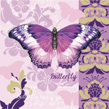FASANA Serviette 217288 33x33cm 3lagig Butterfly 20 St./Pack.