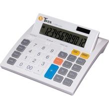 TWEN Tischrechner J-1200 569 12Zeichen Solar/Batterie weiß