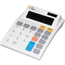 TWEN Tischrechner J-1010 568 10Zeichen Solar/Batterie weiß