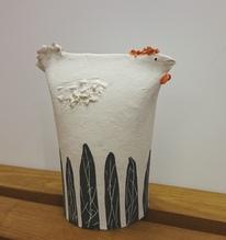 Keramikobjekt Huhn, Sieglinde Tommerdich