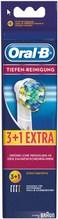 Oral-B EB Tiefenreinigung (3+1Stk) Ersatz-Zahnbürsten weiß