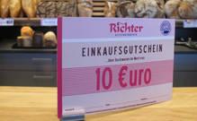 Backwarengutschein im wert von 10 €