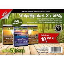 Wildborn Welpenpaket Testpaket 3 x 500g
