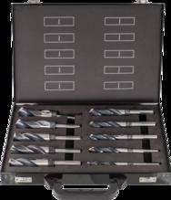 Spiralbohrersatz aus HSS, 10-teilig in Stahlblechbox