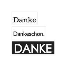 Labels Danke, 30x15mm, 40x15mm, 50x15mm, SB-Btl 3Stück