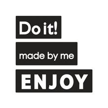 Labels made by me,ENJOY,Do it!, 30x15mm, 40x15mm, 50x15mm, SB-Btl 3Stück