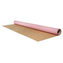 Geschenkpapier Rolle Kraft, 70x200cm, 1 seitig bedruckt, 60g/m2, engl. rosa