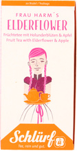 Schlürf Tee Büdel Frau Harm´s Elderflower Holunderblüte Apfel