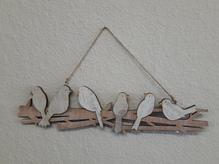 Wand- oder Fensterhänger 'Vogel-Linie