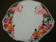 Sommer must have! Strandtuch Flamingo rund