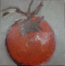 Christiane Bstock, Tomate - Unikat auf Leinwand