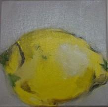 Christiane Bstock, Zitrone - Unikat auf Leinwand
