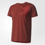 Adidas Herren T-Shirt  Freelift Tric Farbe burgund