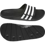Adidas Badesandale Herren duramo slide Farbe schwarz mit weißen Streifen