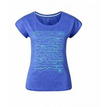 Damen T-Shirt Odlo 'TEBE' Funktion spectrumblue/melange