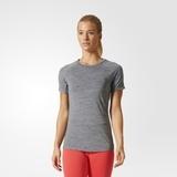 Damen T-Shirt Adidas Performance graumeliert