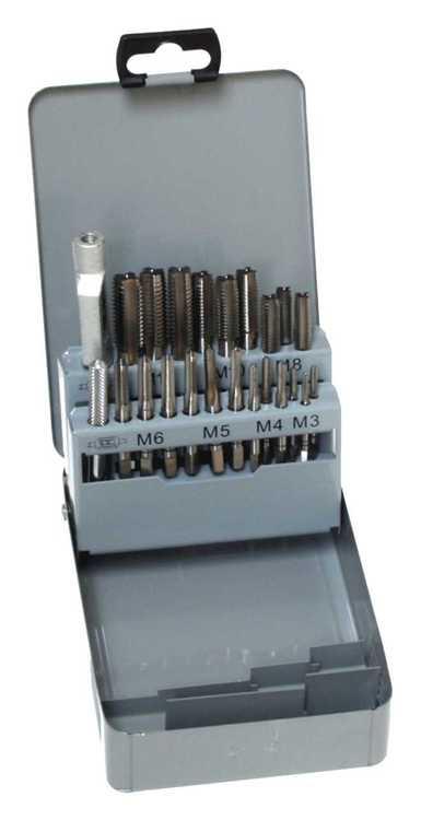 Standard Handgewindebohrer Satz HSSg, DIN 352, ISO2/6H - RH, Metrisches ISO-Regelgewinde nach DIN 13... Satz DIN 352 in Kassette M3-M12