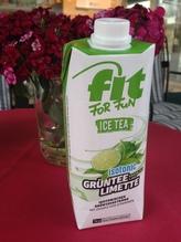 Eistee Limette FIT FOR FUN im Tetra Pak - Isotonisches Grünteegetränk -