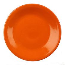 Teller Tartan uni orange Gepa fair gehandelt