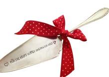 1 Tortenheber mit Beschriftung nach Wunsch, einzigartiges Geschenk