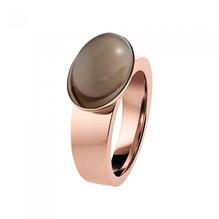 XEN Ring mit Feinvergoldung rosé und Rauchquarz 011648G56