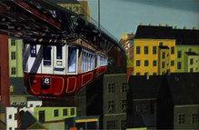 "Wuppertal-Motiv ""Schwebebahn"", WM 108, 30 x 40 cm"