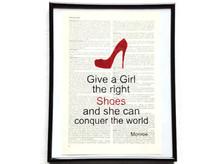Mädchen erobern die Welt Schuhe High Heels Vintage Kunstdruck Lexikon