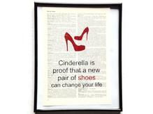Neue Schuhe verändern dein Leben Vintage Kunstdruck Lexikon