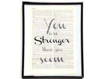 You are stronger Vintage Kunstdruck Lexikon
