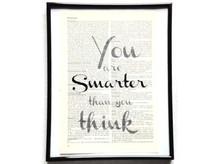 You are smarter Vintage Kunstdruck Lexikon
