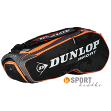 Dunlop Schlägertasche Performance 8 Racket Bag schwarz/grau/fluo-orange