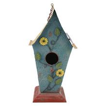 Metall Vogelhaus Vogelvilla Handarbeit blau 71001799