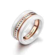 Trendiger Keramik-Ring   mit Memory-Ring in rosé   von Miami-White